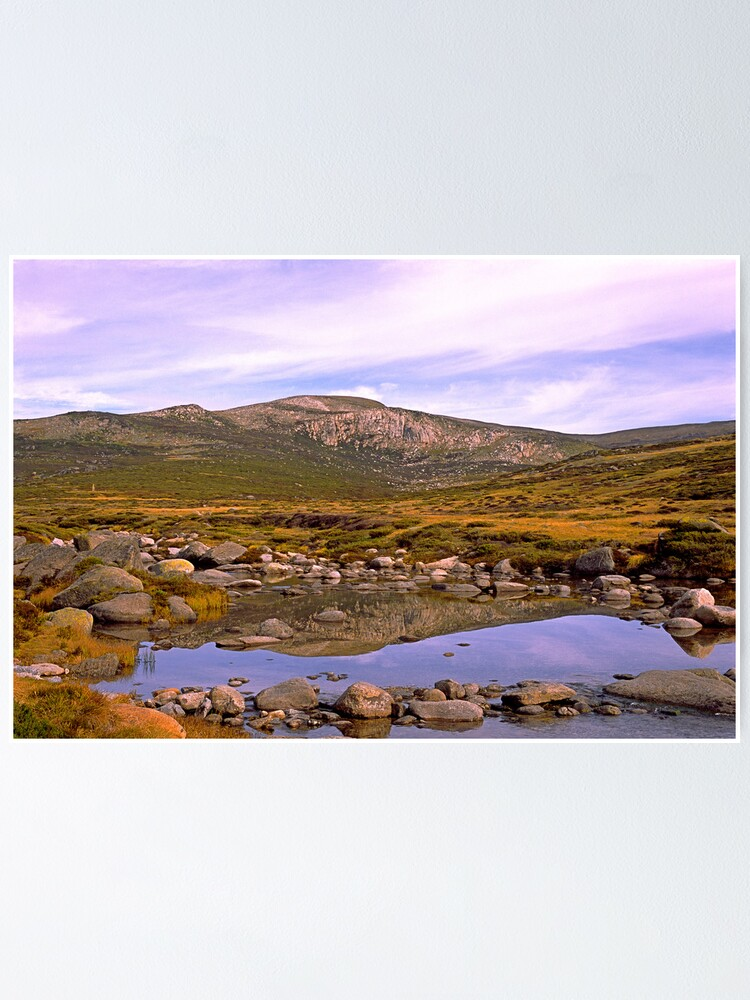 Alternate view of Snowy River, Charlotte Pass, Snowy Mountains, Australia Poster
