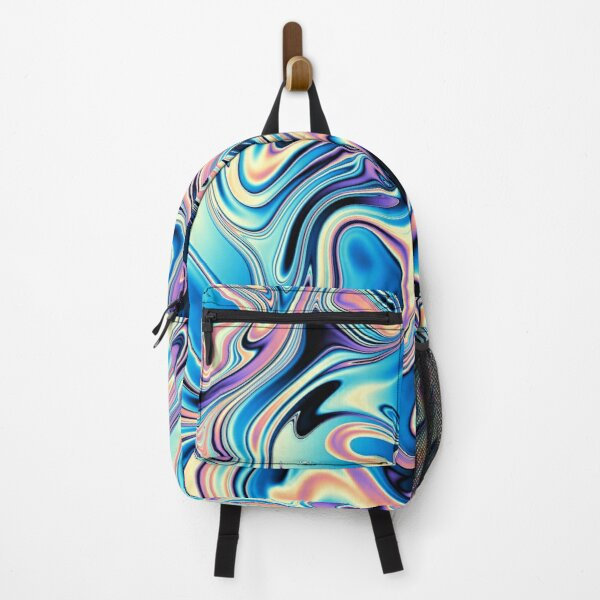 Wavy futuristic texture Backpack