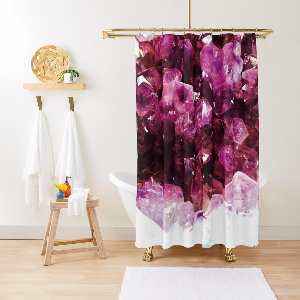 Purple crystal Shower Curtain