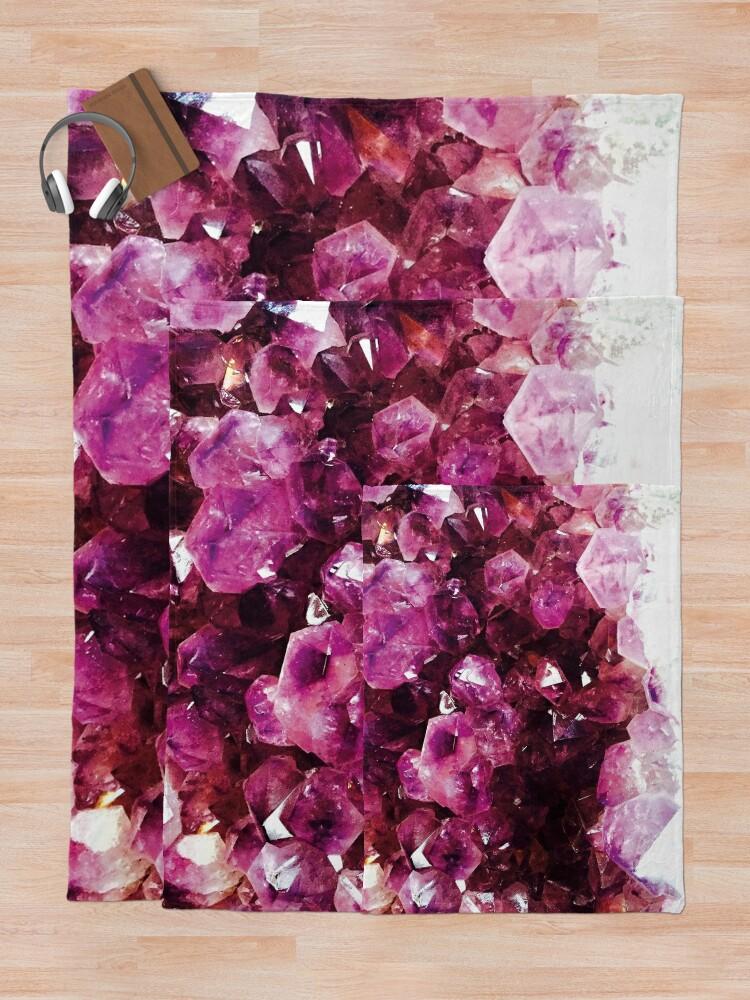 Alternate view of Purple crystal Throw Blanket