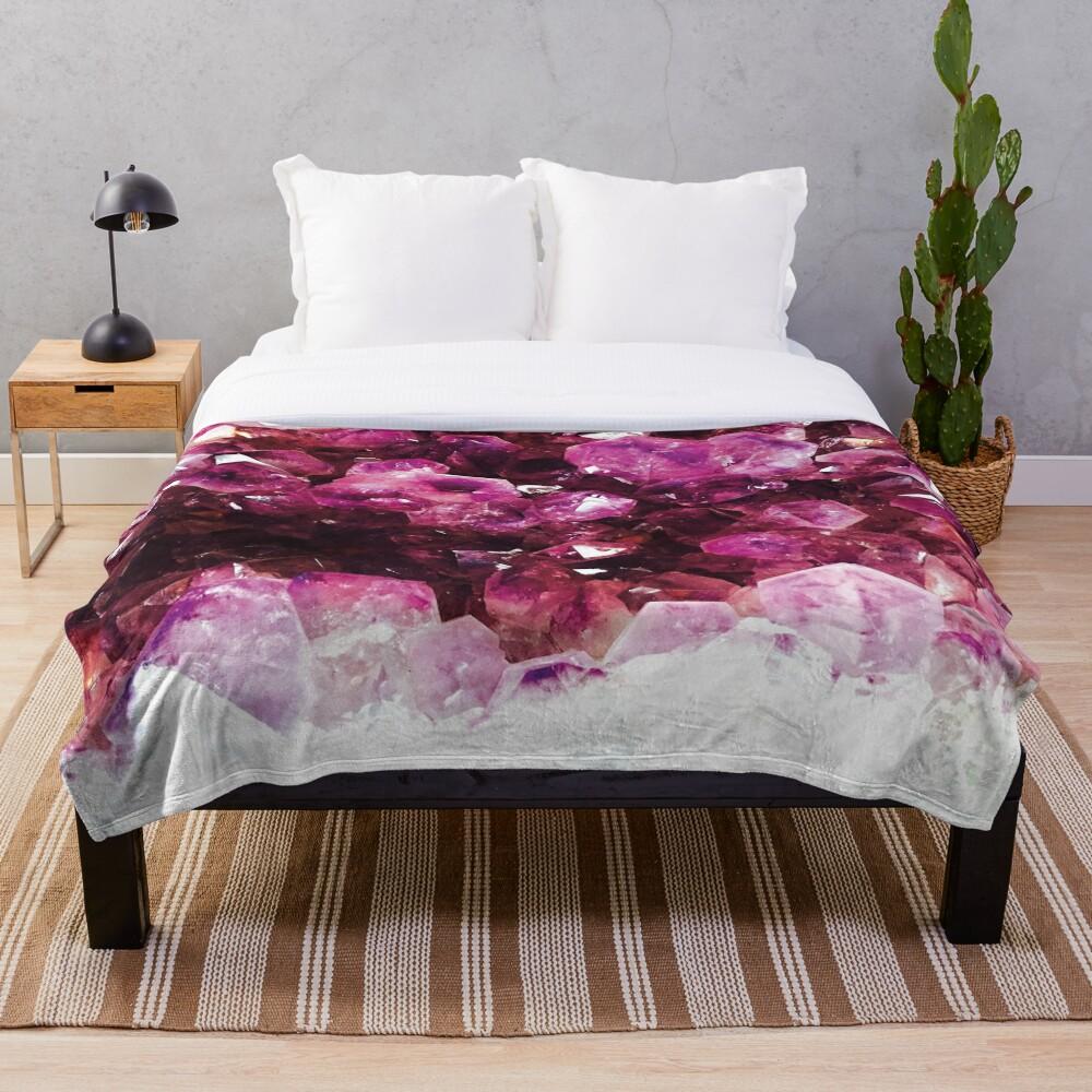 Purple crystal Throw Blanket