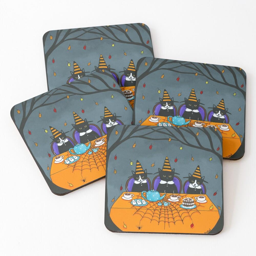 The Halloween Tea Party Coasters (Set of 4)