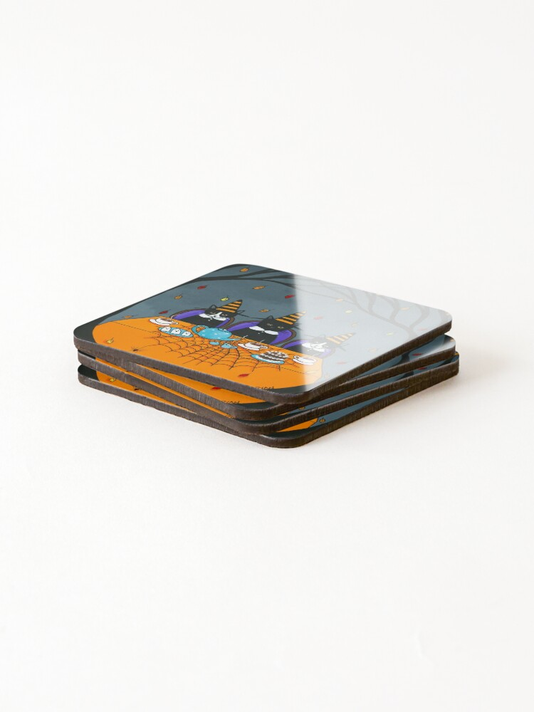 Alternate view of The Halloween Tea Party Coasters (Set of 4)