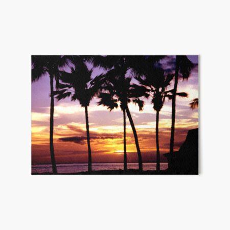 Hawaiian Sunset Art Board Print