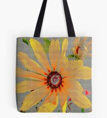 Yellow sunflower design vertical view Tote Bag