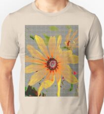 Yellow sunflower design vertical view Unisex T-Shirt