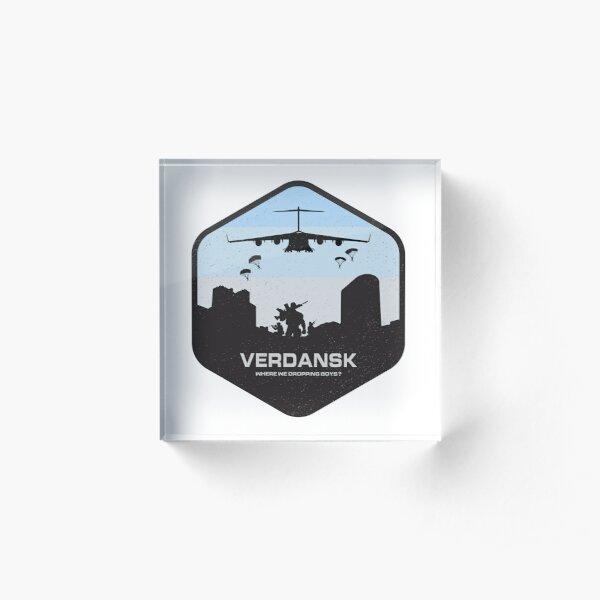 Verdansk Warzone Battle Royale Acrylic Block