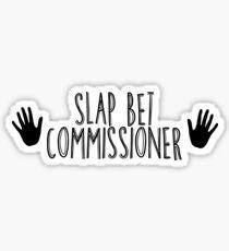 Slap bet text - black text Sticker