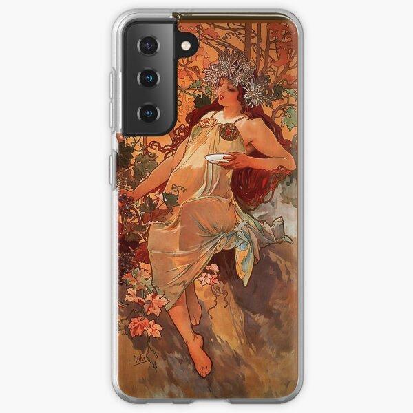 MUCHA. Alphonse Mucha. Autumn. 1896. ART NOUVEAU POSTER. Samsung Galaxy Soft Case