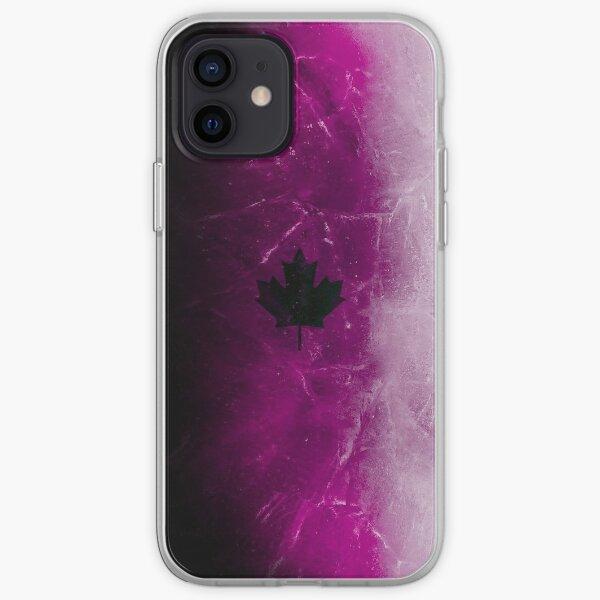 Hielo negro púrpura Funda blanda para iPhone