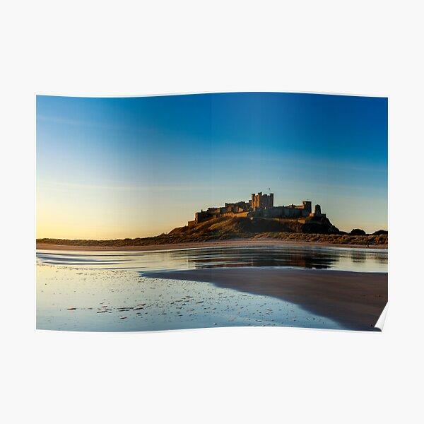 Sunrise over Bamburgh Castle Poster