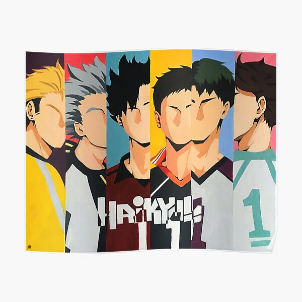 Haikyuu Captains Painting Poster