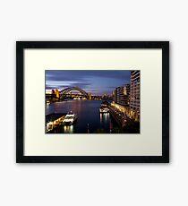 Circular Quay, Twilight. Framed Print