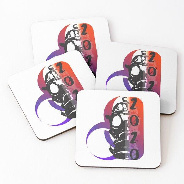 Masked 2020 Coasters (Set of 4)