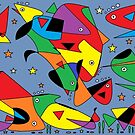 Fish Swimming by Sandy1949