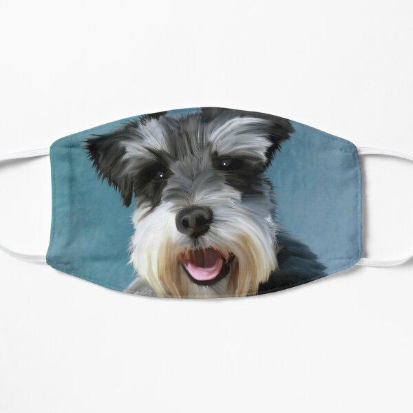 Zwergschnauzer-Hundewasser-Farbkunst-Malerei Maske