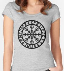 Helm of awe, Aegishjalmur, Runic Amulet Women's Fitted Scoop T-Shirt