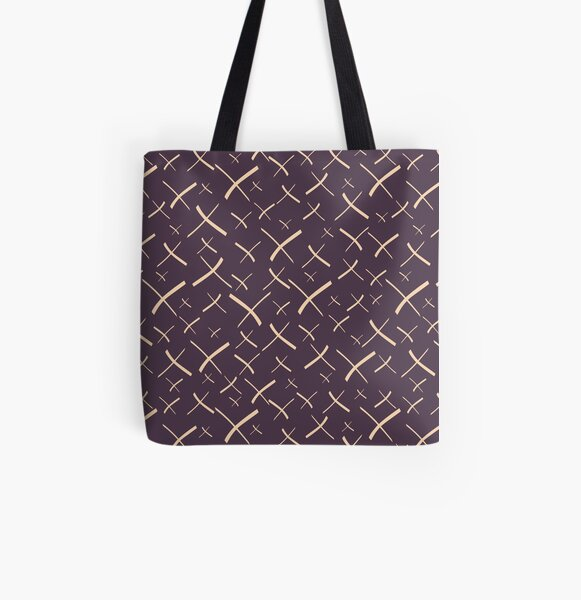 Star Crosses Dark | Pattern All Over Print Tote Bag