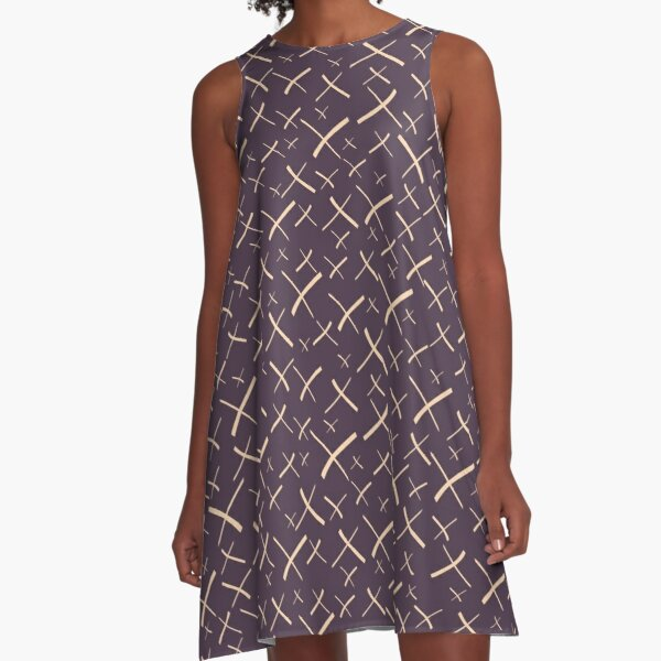 Star Crosses Dark | Pattern A-Line Dress