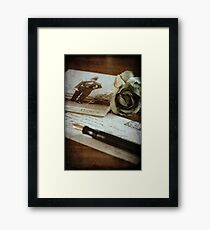 """""""Letter to my son"""" Framed Print"""