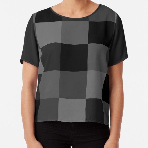 Checkered Black Chiffon Top