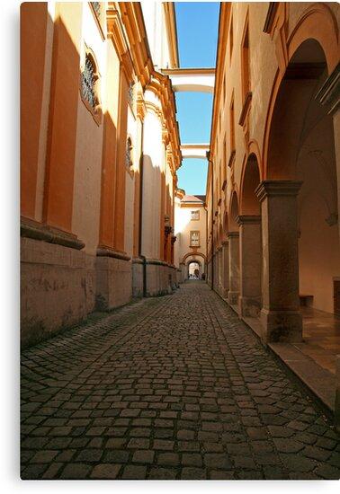 Long Hall of Melk Abbey in Austria by Eileen McVey