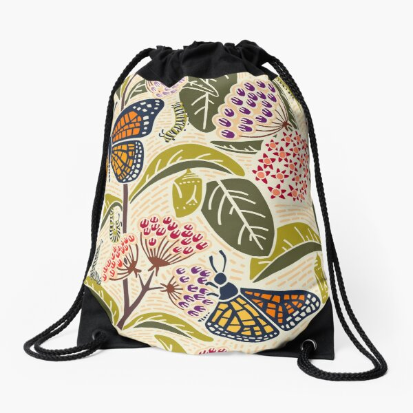 Save Our Monarchs Drawstring Bag