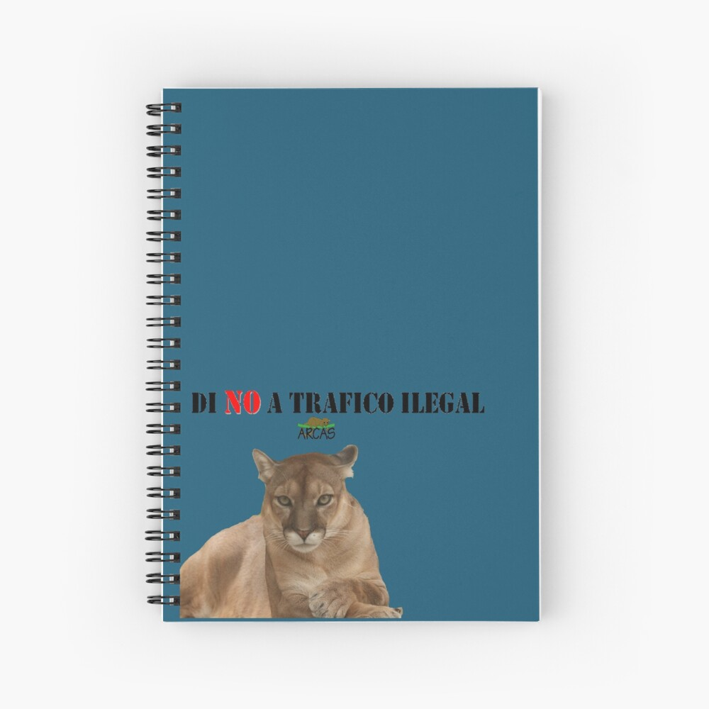 Say No to illegal traffic: cat Spiral Notebook
