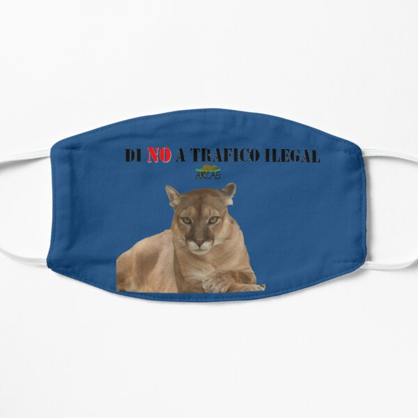 Say No to illegal traffic: cat Flat Mask
