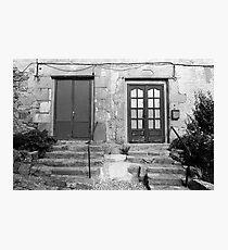 Door Number 1 or Door Number 2? Photographic Print