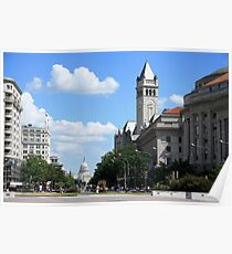 Downtown Washington Poster