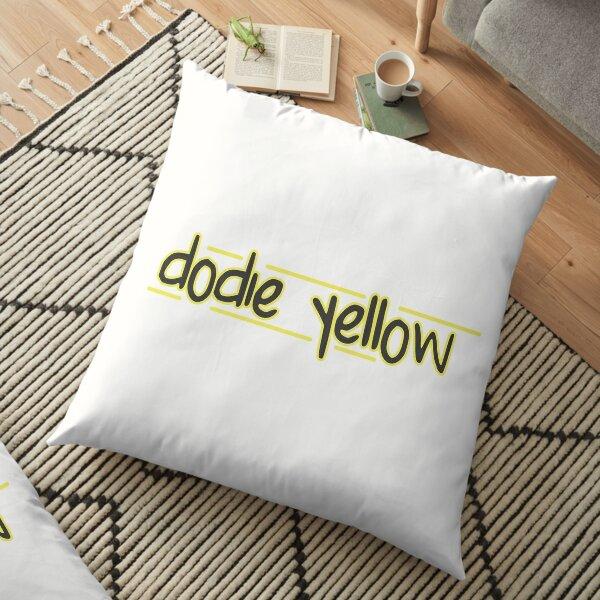 dodie yellow hand written Floor Pillow