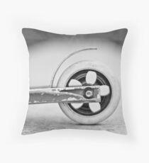 Scooter wheel Throw Pillow