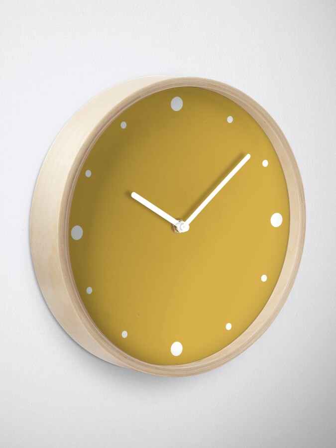 Alternate view of Mustard Yellow Color  Clock