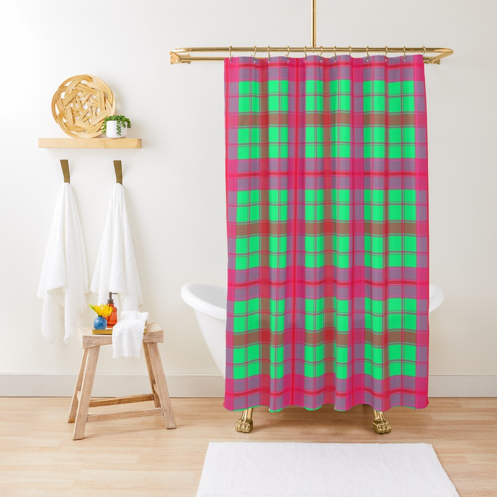 Gypsy Funky Colorful and Bright Stripe Pattern Shower Curtain