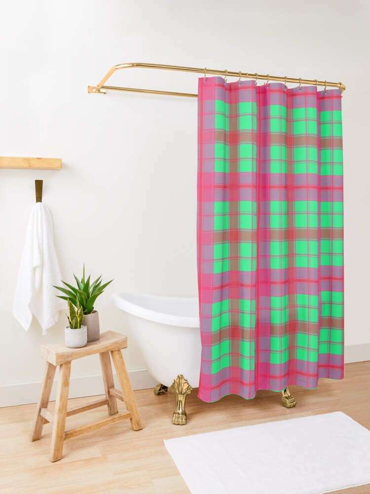 Alternate view of  Gypsy Funky Colorful and Bright Stripe Pattern Shower Curtain