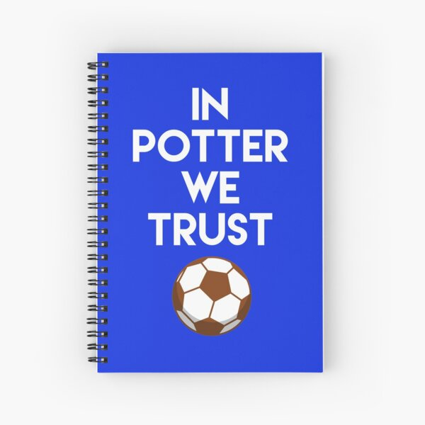 Brighton & Hove Albion F.C. In Graham Potter We Trust- Design by Be More Chill Apparel Spiral Notebook