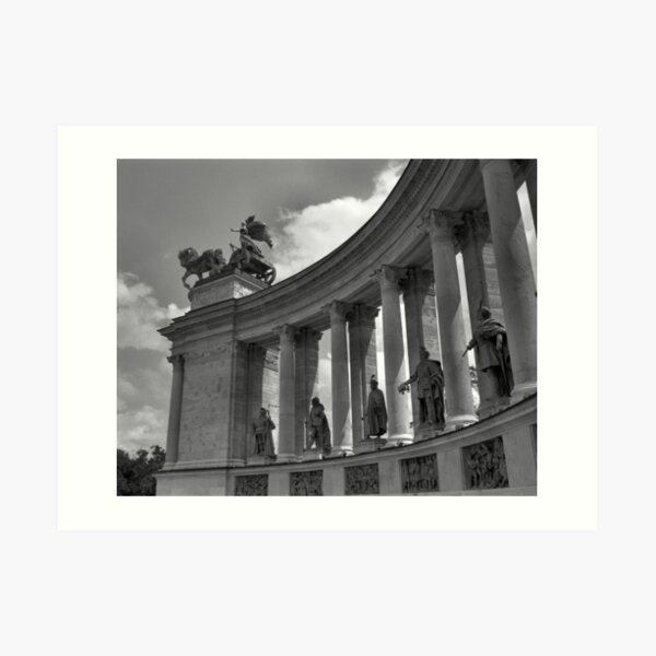 Heroes' Square, Budapest Art Print
