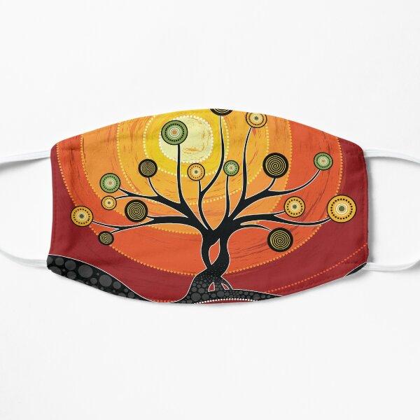 Australian aboriginal art - warm  orange Flat Mask