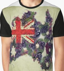 Australian Flag Map Fruits And Vegetables Graphic T-Shirt