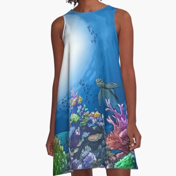Ocean Biome A-Line Dress