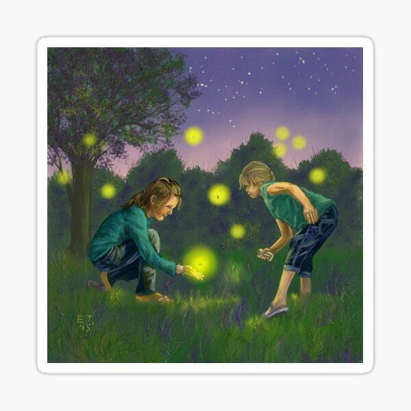 Catching Fireflies  Sticker
