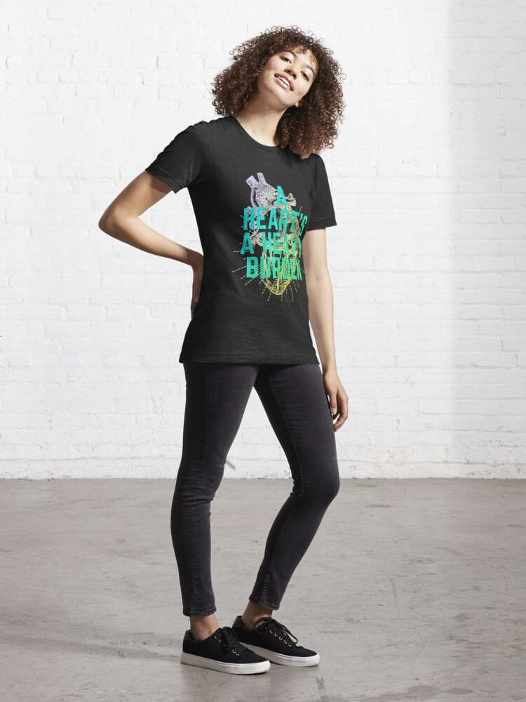 Alternate view of  A heart is a heavy burden Green Edition Essential T-Shirt