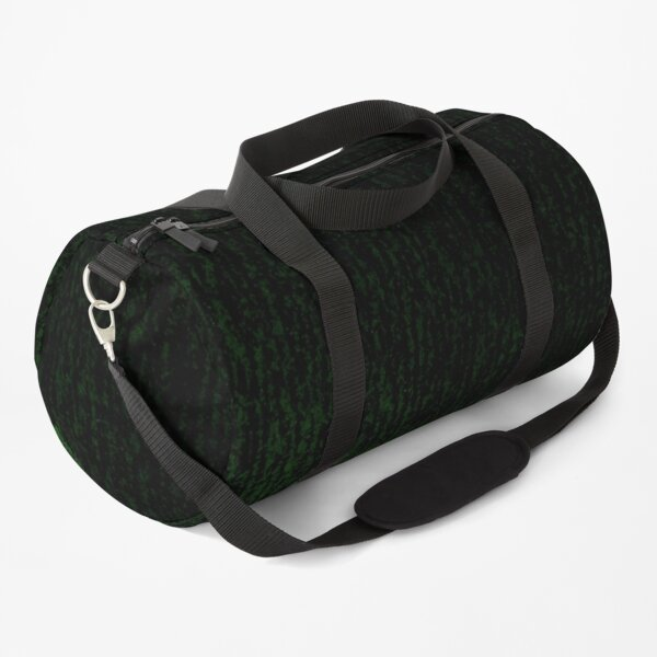 Abstract black-green background. Duffle Bag