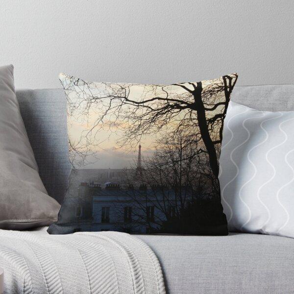Parisian sadness Throw Pillow