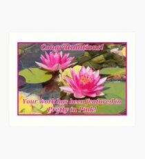 Pretty in Pink Feature Banner Art Print
