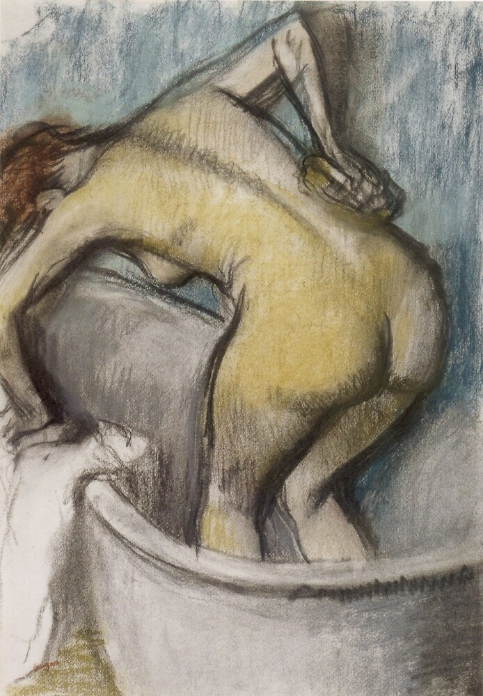 Edgar Degas French Impressionism Oil Painting Bath by jnniepce