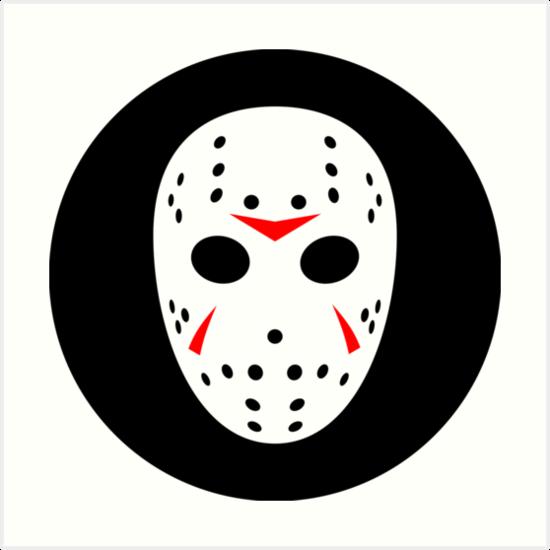 """Halloween Hockey Mask Jason Friday 13th Ideology"" Art ..."