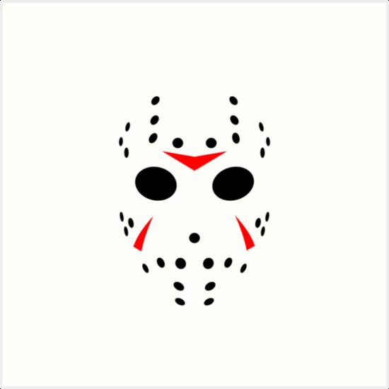 "To Print For Jason Mask Pumpkin Stencil: ""Halloween Hockey Mask Jason Friday 13th Ideology"" Art"