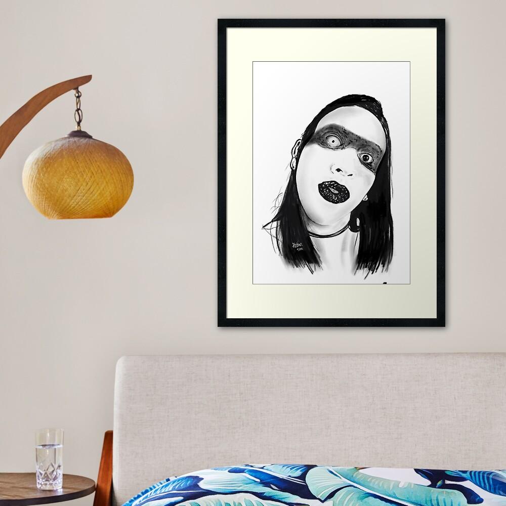 Marilyn Manson Framed Art Print